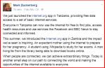 Mark Zuckerberg Post on Facebook